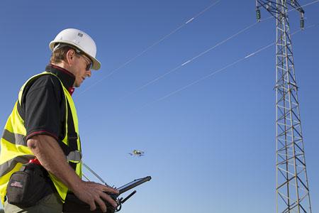 Contrôle vétusté réseau par drone