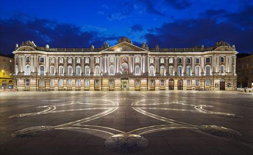 photographe éclairage-mise en valeur-image du Capitole à Toulouse