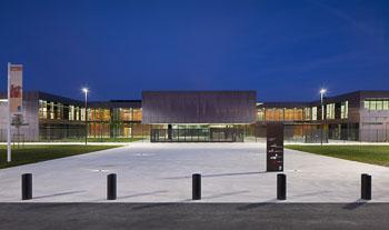 Lycée de nuit - Photographe Architecture de nuit