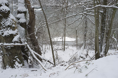 Sortie dans le froid blanc des bords d'Ariège