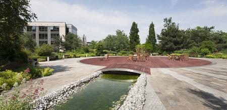 Détails, Bureaux et jardin