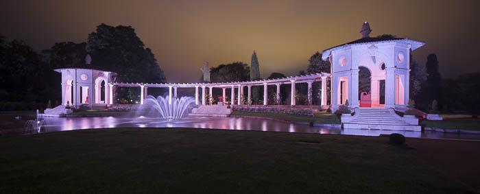 Éclairage de la Villa Arnaga