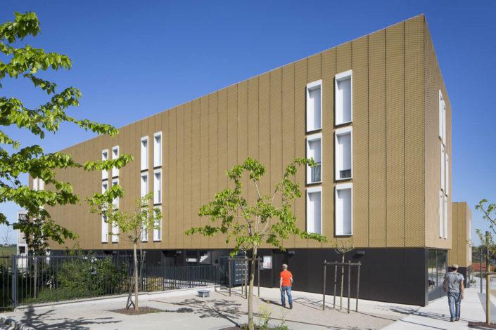 Résidence Marcaissonne à Saint-Orens de Gameville (proche de Toulouse) - Client: Patrimoine SA Languedocienne - Photographe d'architecture