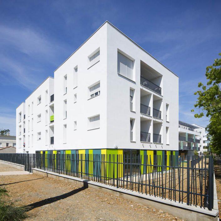 Résidence Bordeblanche à Toulouse - Client: Patrimoine SA Languedocienne - Photographe d'architecture