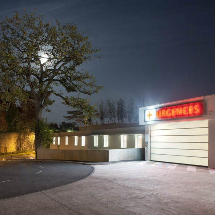 Hôpital de Château-Gontier, Mayenne - Photographe Architecture nuit