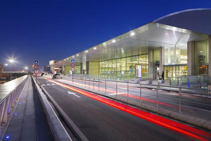 Aéroport de Toulouse Blagnac - Photographe Architecture nuit