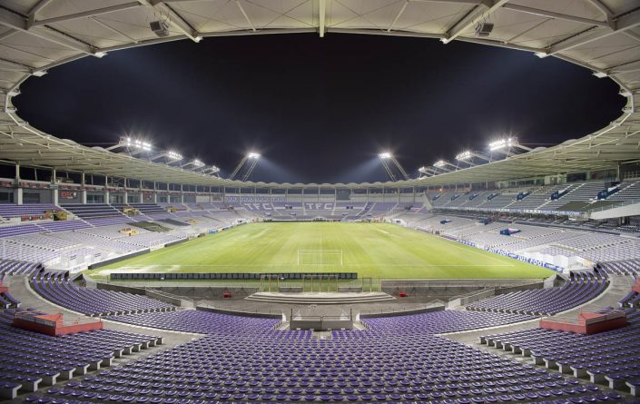 Stadium de Toulouse - Photographe Architecture nuit
