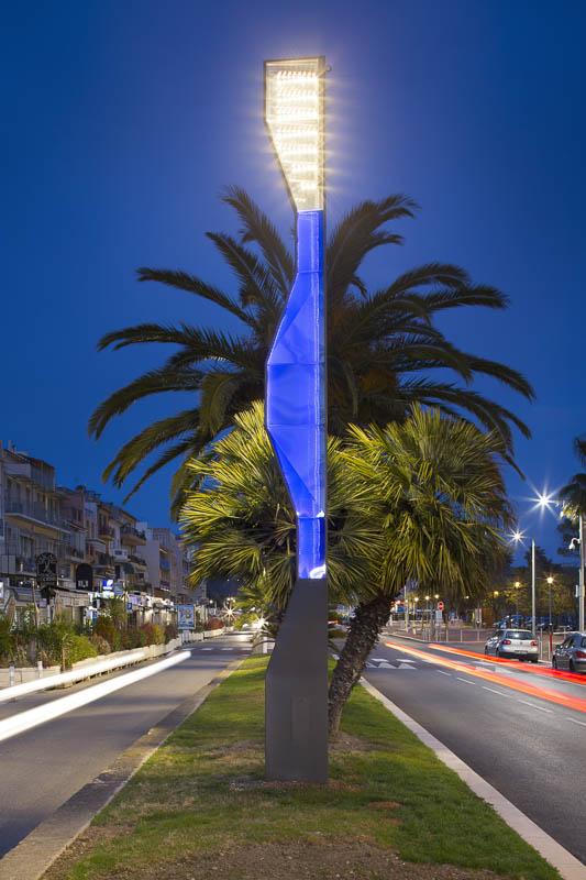Mâts d'éclairage pour ETI à Bandol - Photographe Eclairage