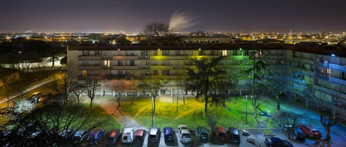 Place des Faons, Toulouse - Photographe Architecture nuit