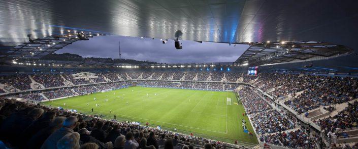 Stade Océane - Le Havre - Photographe Architecture nuit
