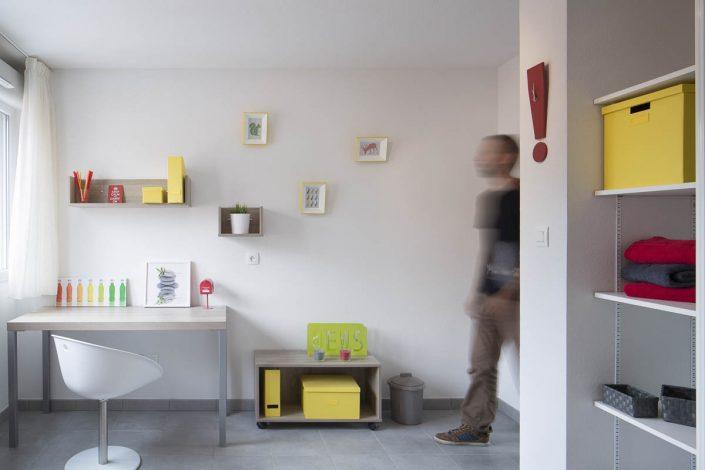 Résidence UniversCity - Client: Vinci Immobilier - Photographe Architecture Intérieure