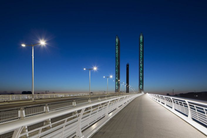 Reportage éclairages ville de Bordeaux, Pont Chaban Delmas - Photographe Eclairage