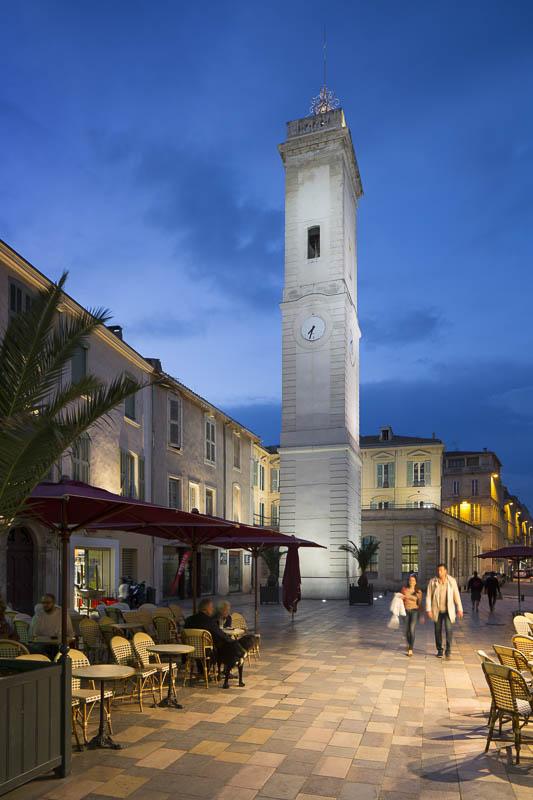 Tour de l'horloge, Nîmes - Photographe Eclairage