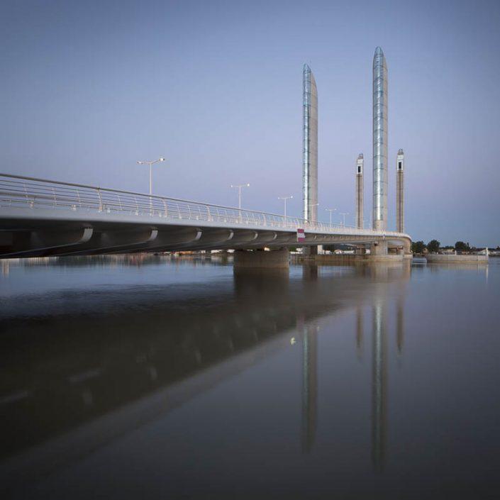 Reportage éclairages ville de Bordeaux, Pont Chaban Delmas - Photographe Architecture