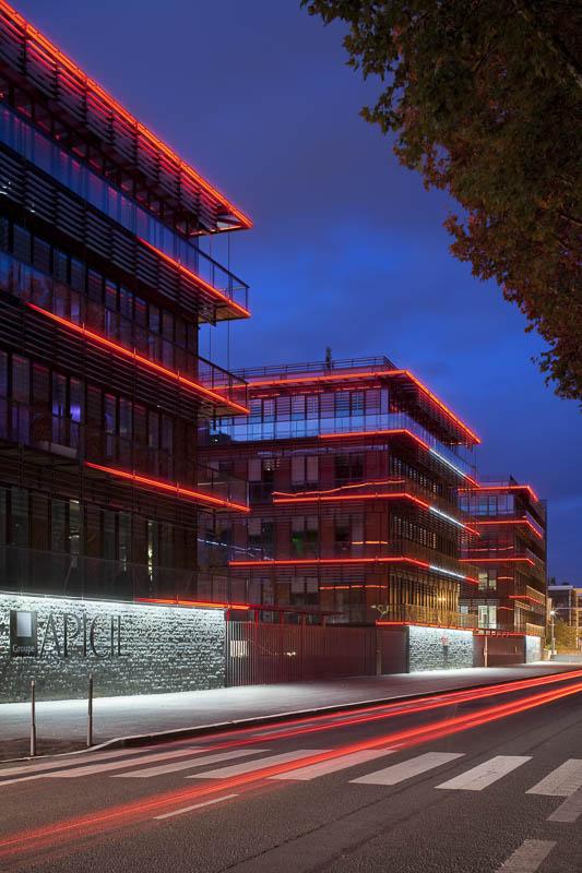 Bâtiment Apicil à Lyon - Photographe Architecture nuit