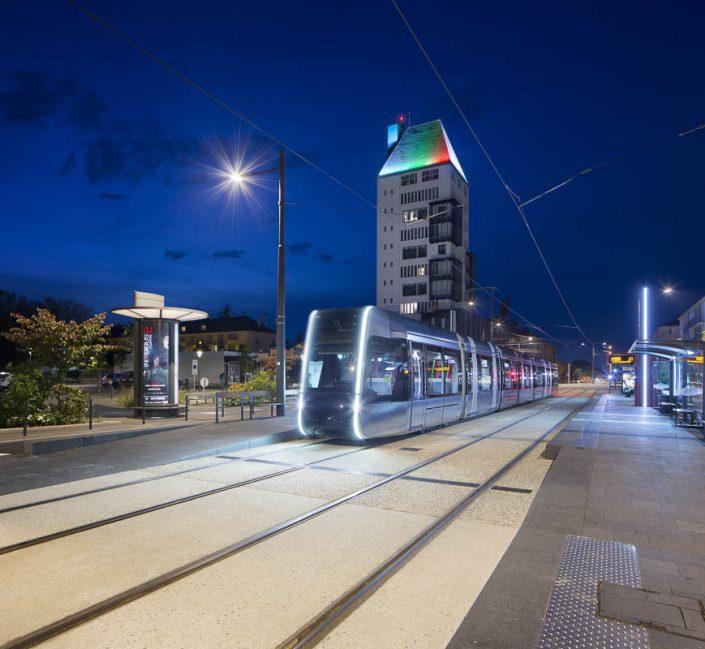 Reportage éclairage à Tours pour Philips - Photographe Architecture nuit