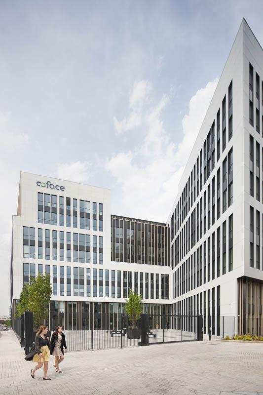 Jardin d'entreprise - COFACE - Photographe d'architecture