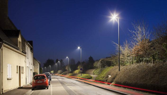 Éclairage public à Caen (14) pour Abel - Photographe Eclairage