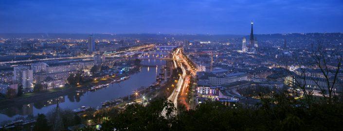 Vue panoramique de Rouen - Photographe Eclairage