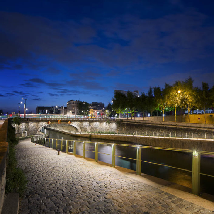 Quai du canal Saint-Denis à Paris - Photographe Eclairage