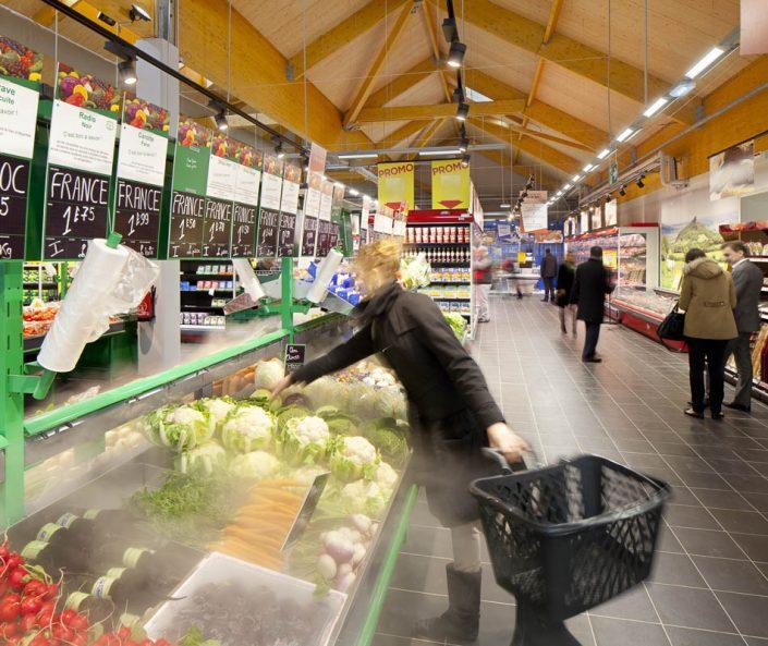 Eclairage du Simply Market de Saclay - Photographe Eclairage
