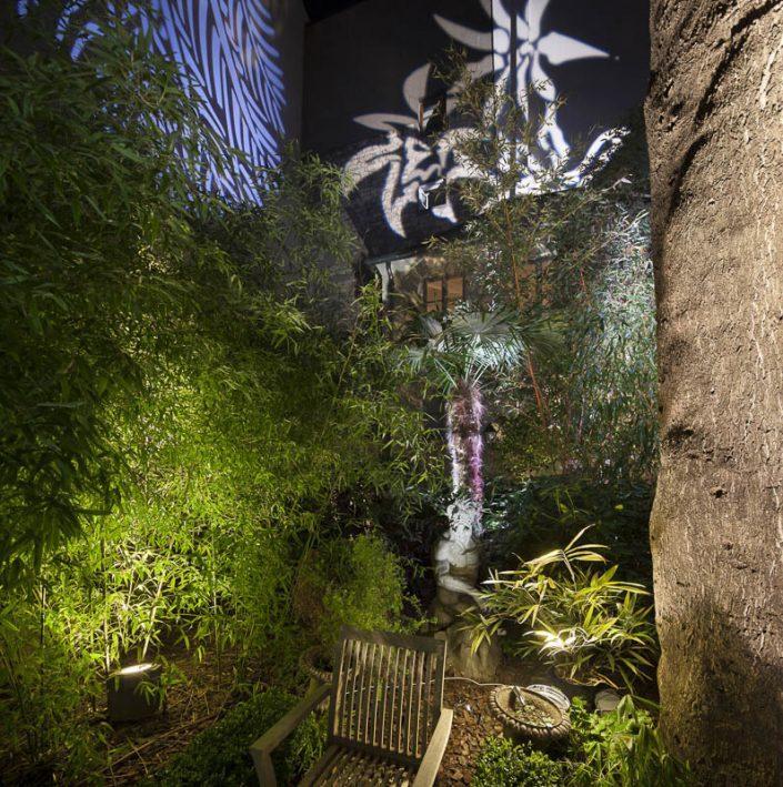 Jardin des bureaux TUP - Photographe Eclairage