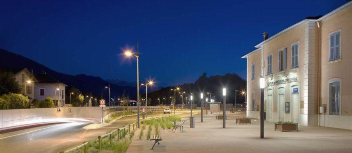 Gare de Pontcharra, Isère - Photographe Eclairage