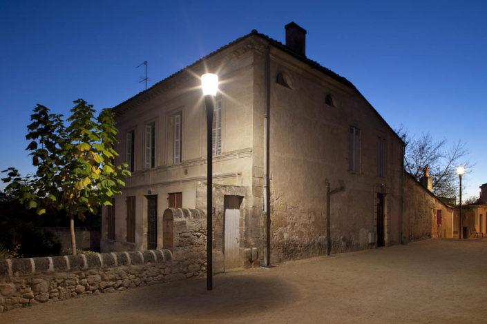 Eclairages place de l'Eglise, Saint André de Cubezac - Photographe Eclairage