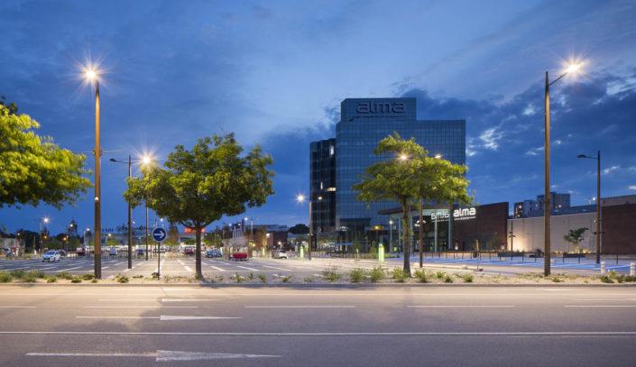 Reportage éclairage centre commercial Alma à Rennes - Photographe Eclairage