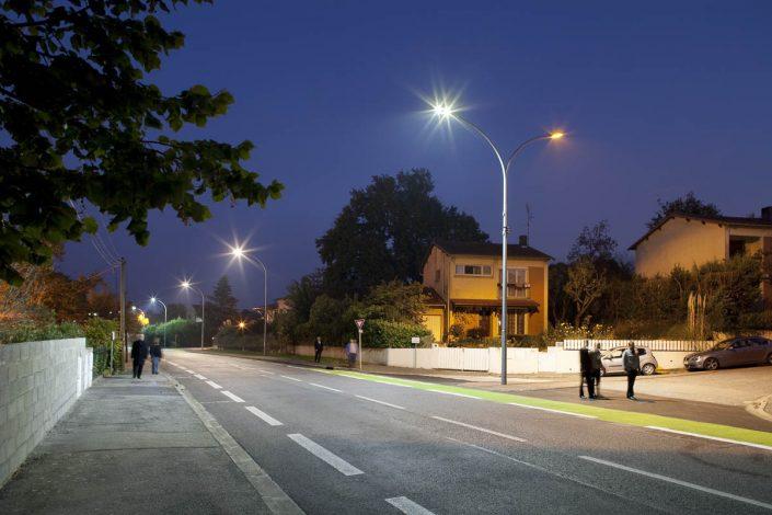 Eclairage LED, Ville de Balma - Client: Citéos - Photographe Eclairage