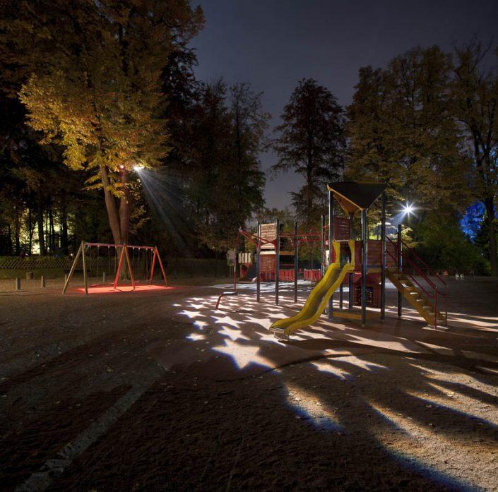 Eclairages Parc de l'Orangerie à Strasbourg - Photographe Eclairage