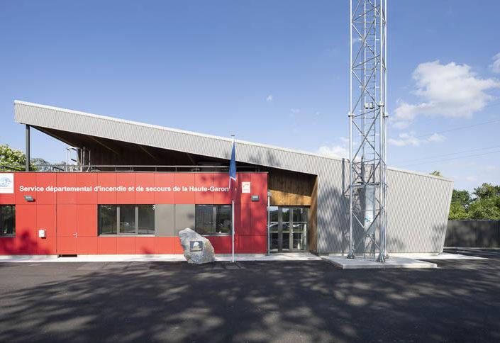 Centre de secours de Saint-Martory - Photographe Architecture