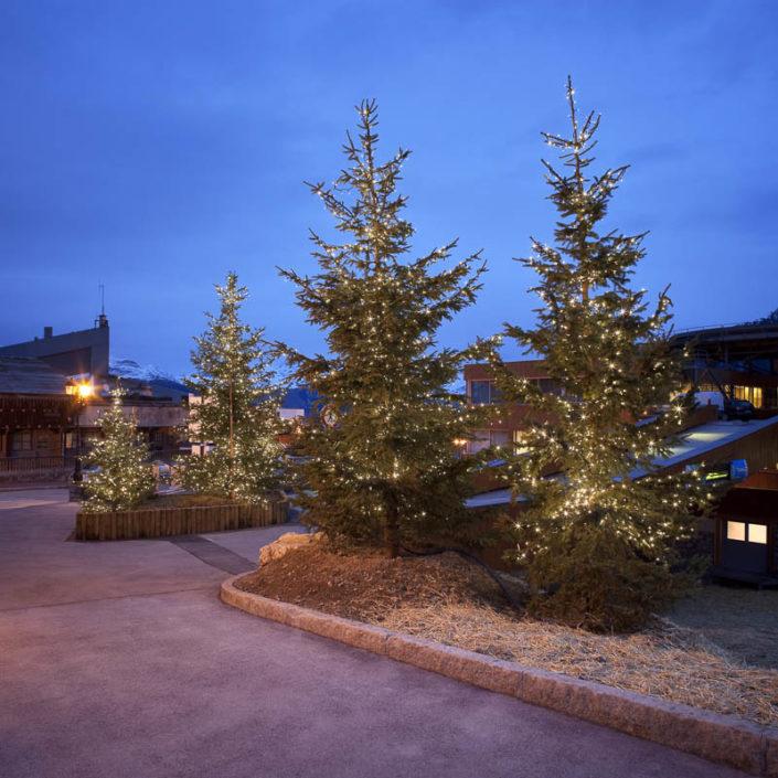 Illuminations festives à Courchevel -